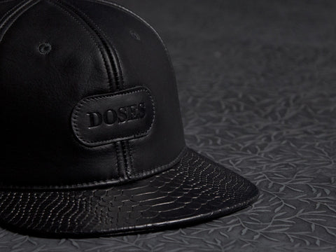 Doses Leather Snakeskin Strapback