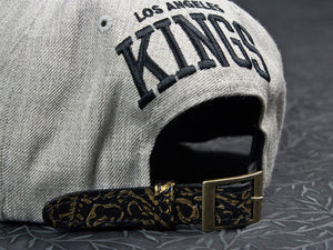 Los Angeles Kings Gold Embossed Strapback