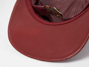 Doses Crimson Perforated Alligator Strapback