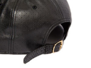 Doses Noir Perforated Snakeskin Strapback
