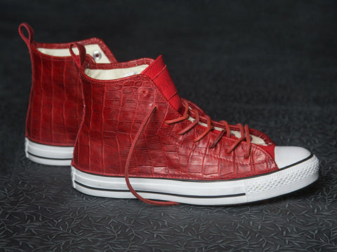 DOSES BLOOD RED ALLIGATOR BELLY CONVERSE