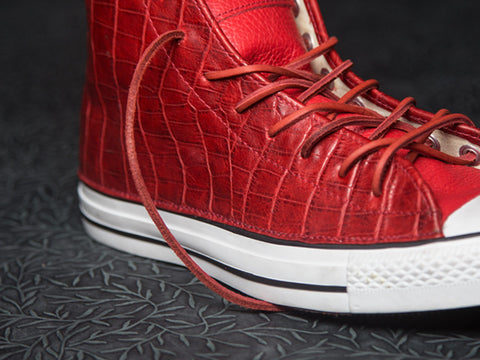 DOSES BLOOD RED ALLIGATOR BELLY CONVERSE *SOLD OUT
