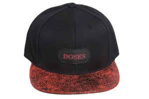 Doses Red Cement Leather Strapback