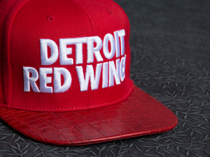 Detroit Red Wings Alligator Strapback