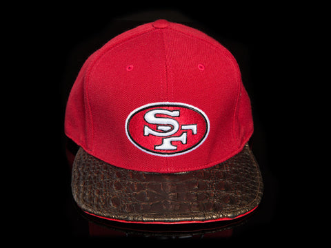 San Francisco 49ers Alligator Strapback