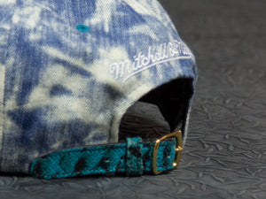 San Jose Sharks Acid Wash Denim Snakeskin Strapback