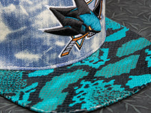 San Jose Sharks Acid Wash Snakeskin Strapback
