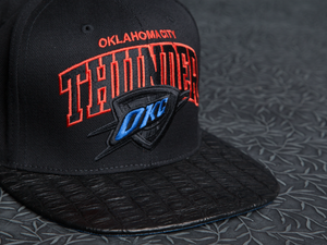 Oklahoma City Thunder Alligator Strapback