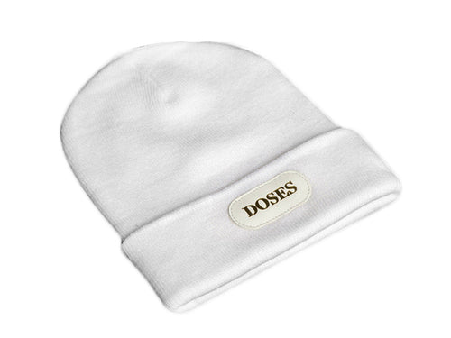 White Doses Gold Label Beanie