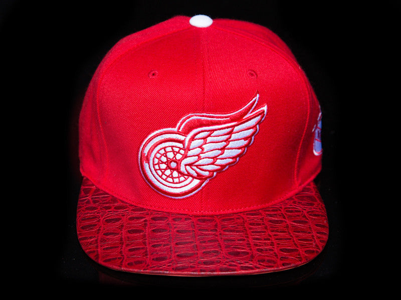 Detroit Redwings Alligator Strapback