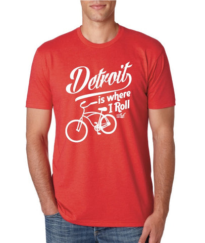 Detroit Is Where I Roll T-Shirt - Red