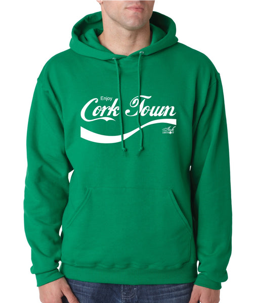 Enjoy Cork Town Unisex Hoodie - Irish Green