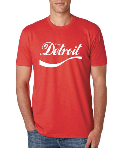 ENJOY DETROIT - T-Shirt - Red