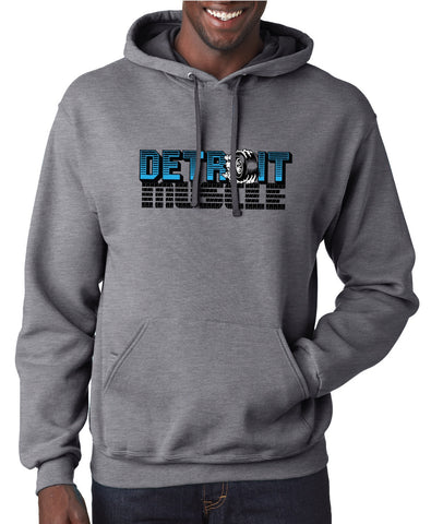 Detroit Muscle - Unisex Hoodie - Charcoal Gray