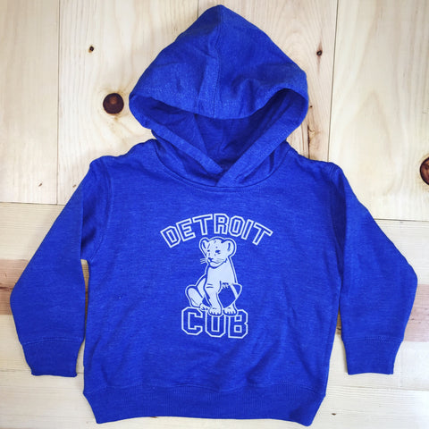 Detroit Cub Football - Toddler - Pullover Sweatshirt - Royal Blue