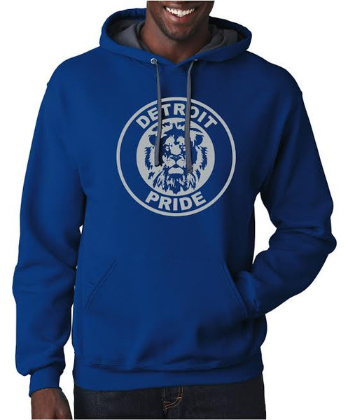Detroit Football Pride Unisex Hoodie - Royal Blue