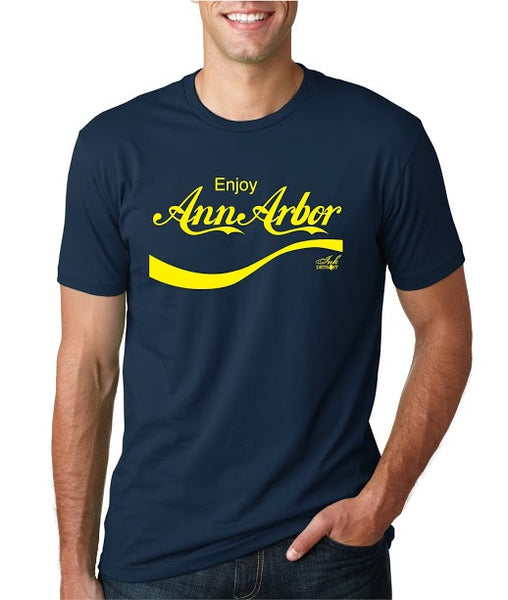 ENJOY ANN ARBOR - T-Shirt - Navy