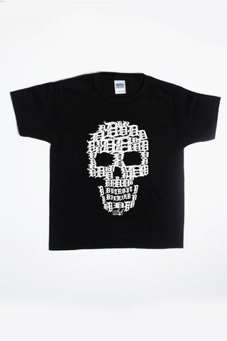 Detroit Skull -  Kids T-Shirt - Black