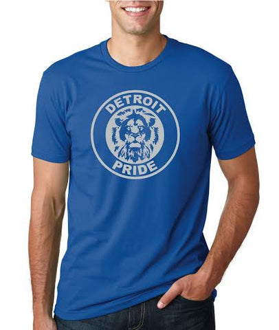 Detroit Football Pride - T-Shirt - Royal Blue