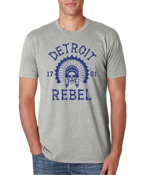 Detroit Rebel 1701 - T-Shirt - Light Gray