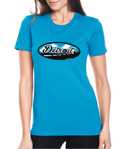 Road to Detroit - Women's - T-Shirt - Turquoise Blue