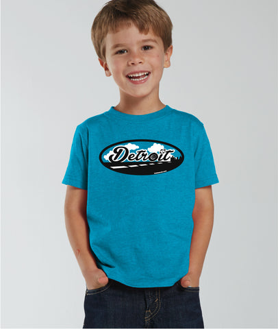 Road to Detroit - Toddler T-Shirt - Turquoise Blue