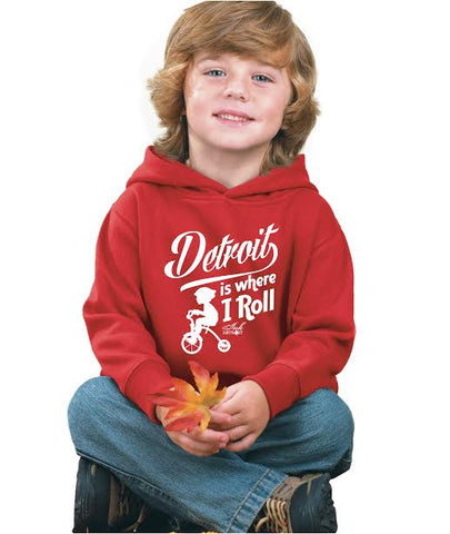 Detroit Is Where I Roll - Toddler - Pullover Sweatshirt - Red