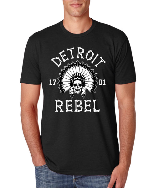 Detroit Rebel 1701 - T-Shirt - Black
