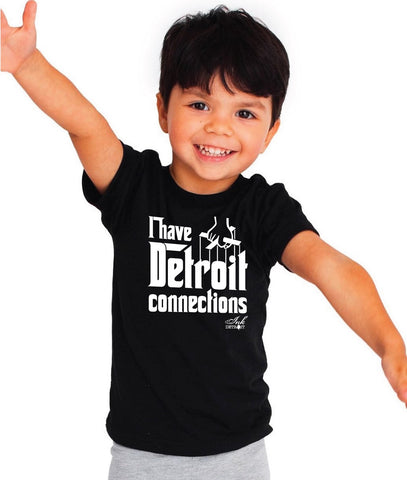 I Have Detroit Connections - Toddler T-Shirt - Black