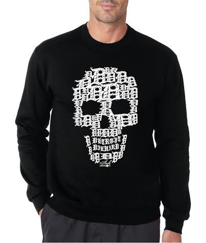 Detroit Skull - Crew Neck Sweatshirt - Black