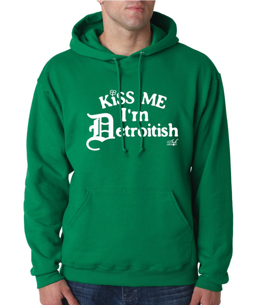 Kiss Me I'm Detroitish Unisex Hoodie - Irish Green