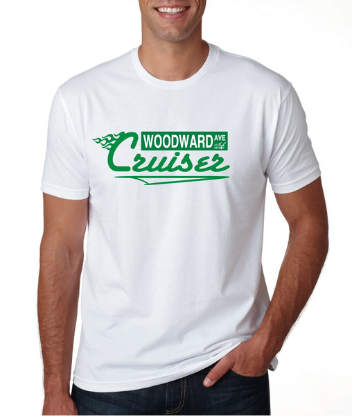 Woodward Ave Cruiser - T-Shirt - White and Green