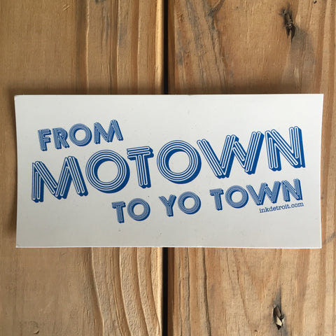 From Motown To Yo Town Bumper Sticker