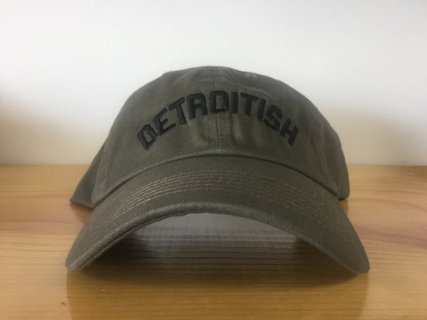 Detroitish Dad's Cap - Olive Green