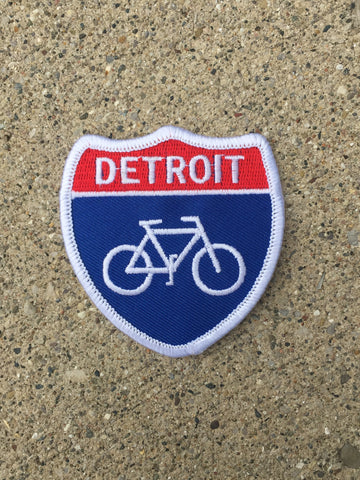 Detroit Bike Highway Iron on Patch