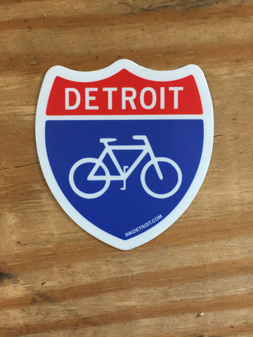 Detroit Bike Vinyl Die Cut bumper sticker