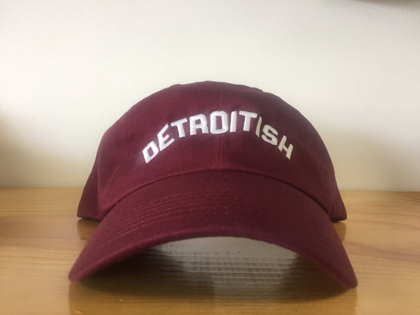 Detroitish Dad's Cap - Maroon