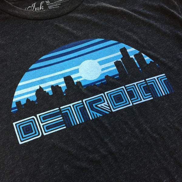 Detroit Night Vibes - Black - Tri-Blend T-Shirt