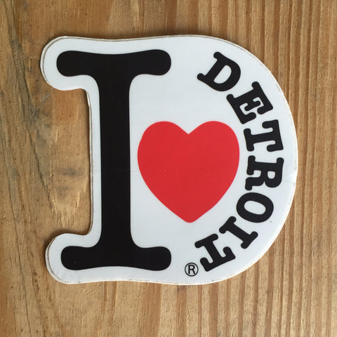 I Love Detroit Die Cut Bumper Sticker