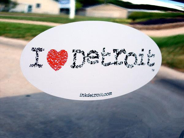 I Heart Detroit Bumper Sticker