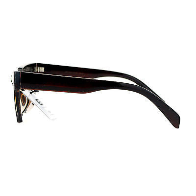 Avant Garde Crop Bottom Rectangular Horn Rim Hipster Sunglasses