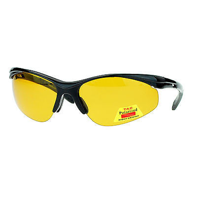 Polarized No Glare Mens Outdoor Baseball Half Rim Fishing Warp Sport Sunglasses