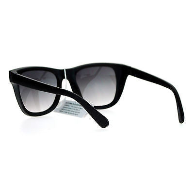 SA106 Unique Wind Breaker Side Visor Horn Rim Retro Gradient Lens Sunglasses