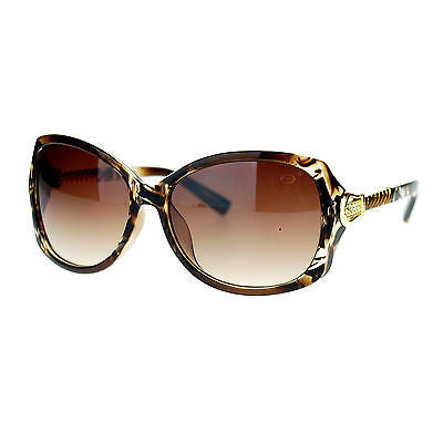 Womens Metal Chain Arm Rhinestone Buckle Jewelry Hinge Large Fashion Sunglasses