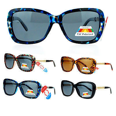 SA106 Anti Glare Polarized Lens Metal Chain Arm Butterfly Sunglasses