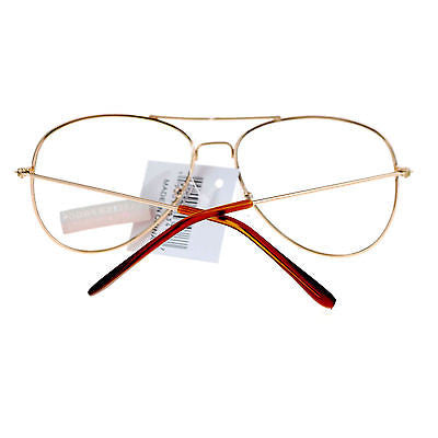 SA106 Classic Wire Rim Tear Drop Shape Aviator Clear Lens Eye Glasses