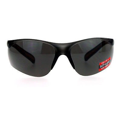 SA106 High Quality ANSI Z87.1+ Protection Half Rim Sport Safety Glasses