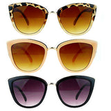 Diva Womens Runway Fashion Metal Bridge Trim Oversized Cat Eye Sunglasses