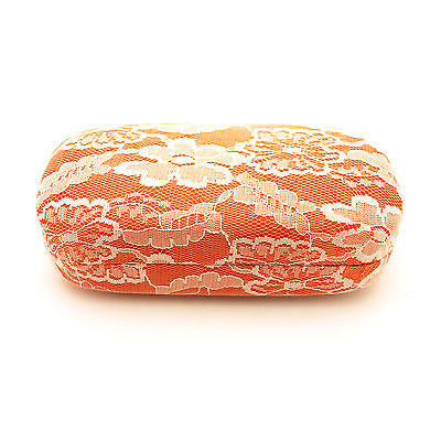 Oversized Diva Womens Lace Cover Hard Large Metal Clam Shell Box Sunglasses Case