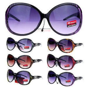CG Eyewear Oversize Metalic Scribble Skatch Pattern Plastic Butterfly Sunglasses
